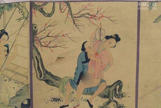 唐玄宗与杨贵妃的春宵秘戏图:爱爱的场景旁边竟有两宫女